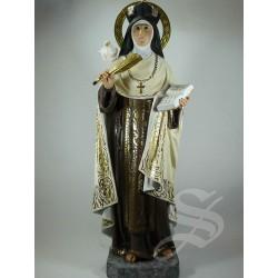 SANTA TERESA DE JESUS 40 CM. 2ª PASTA DE MADERA