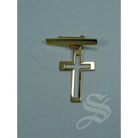 BROCHE LISO CRUZ COMUNION