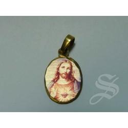 MEDALLA CORAZON.JESUS - FILIGRAMADA