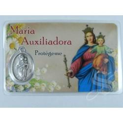 ESTAMPA MARIA AUXILIADORA CON MEDALLA