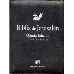 BIBLIA DE JERUSALEN. 5ª EDICION MANUAL TOTALMENTE REVISADA - MODELO CON CREMALLERA