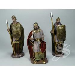 CONJUNTO HERODES Y 2 ROMANOS 12 CM. BARRO