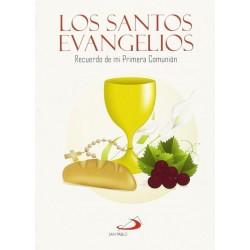 LOS SANTOS EVANGELIOS. RECUERDO DE MI PRIMERA COMUNION (FUNDA TRANSPARENTE)